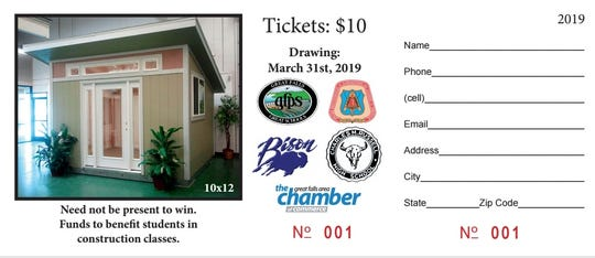 Raffle tickets will also be available at the Home and Garden Show. Only of 500 tickets are available for the drawing.