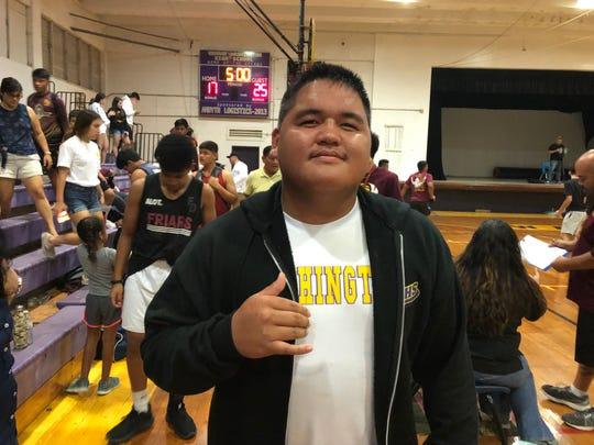Ethaniel Cali, three-sport all-star for George Washington High School