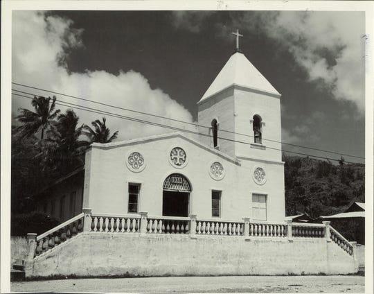 Umatac Catholic church post war