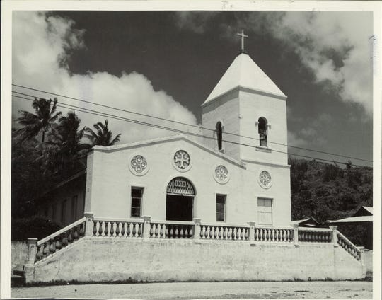 Umatac Catholic church post war