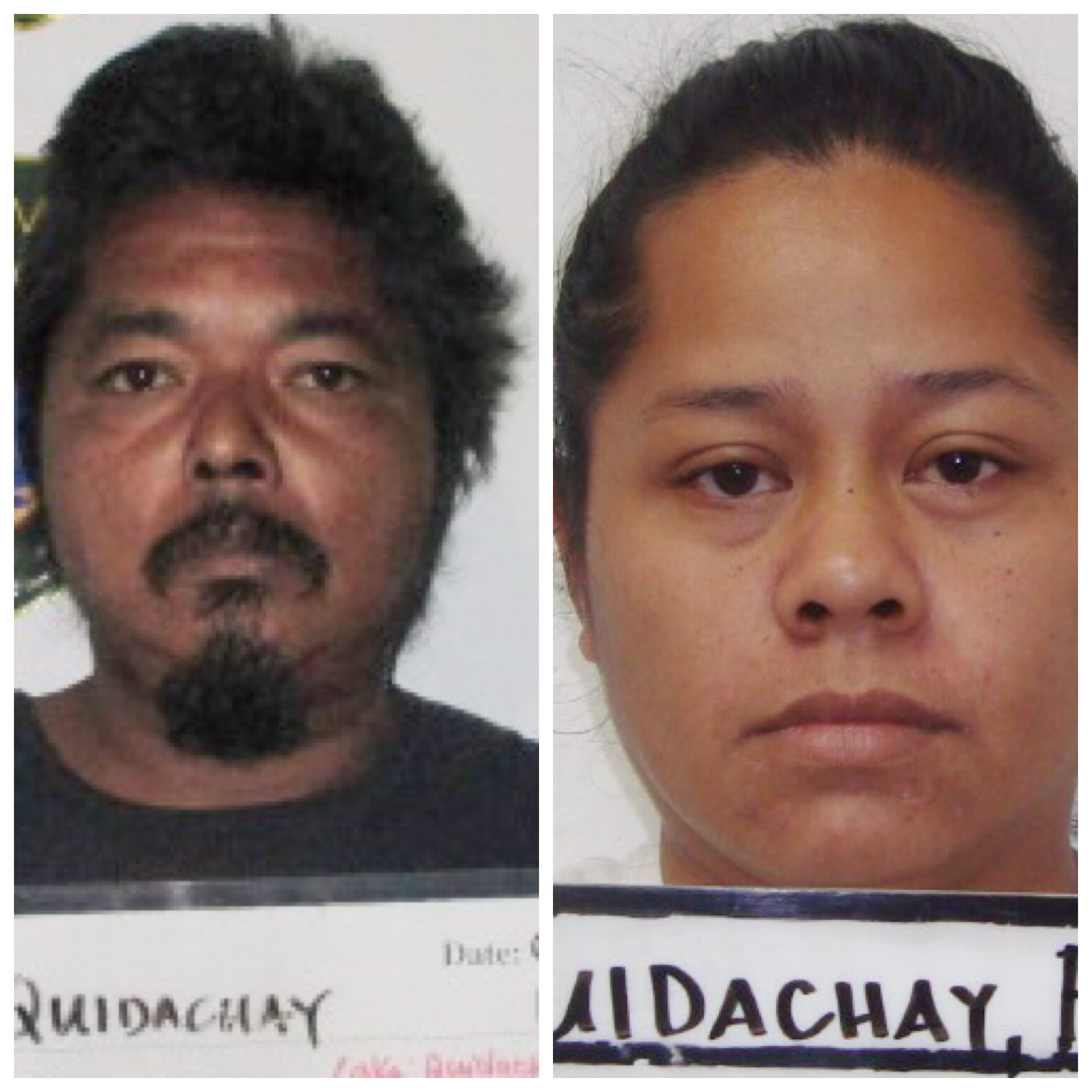Tomas Junior Quidachay and Francine Cruz Quidachay charged with child abuse