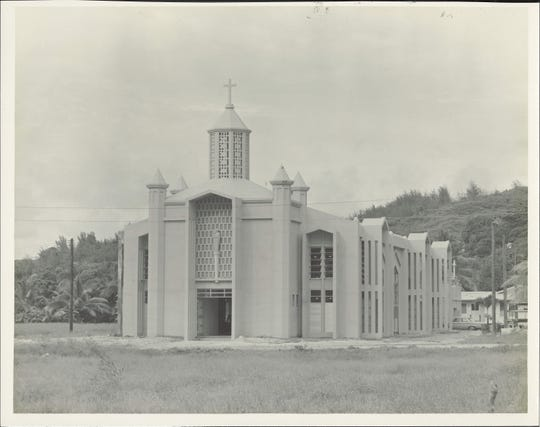 Asan Catholic Church post-war