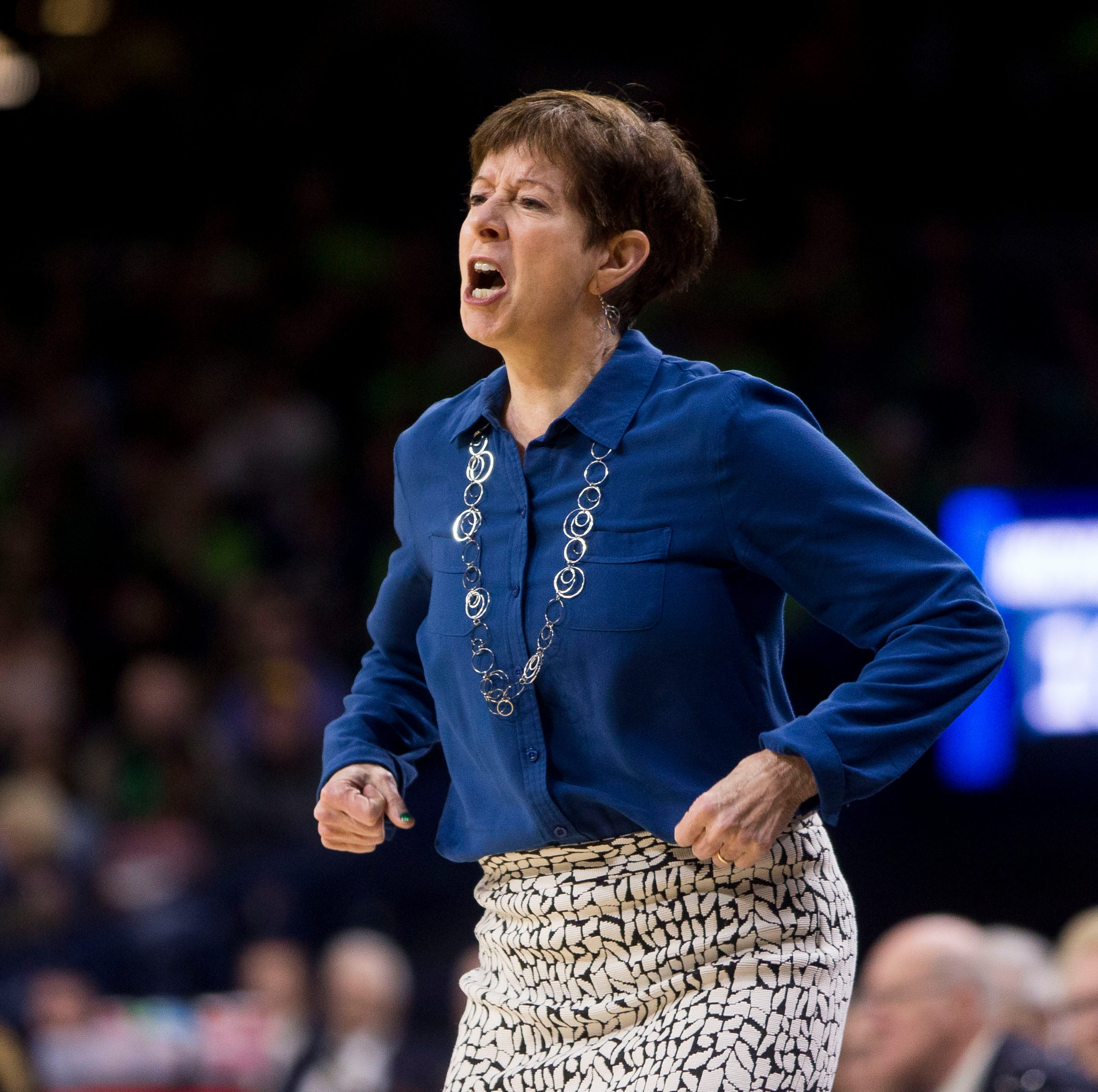 Notre Dame's Muffet McGraw won't take the bait as Geno Auriemma throws more barbs