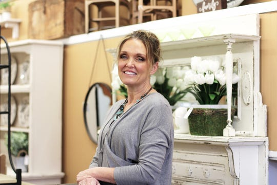 House of Painted Furniture owner Ginger Lay at her Fountain City store. March 2019