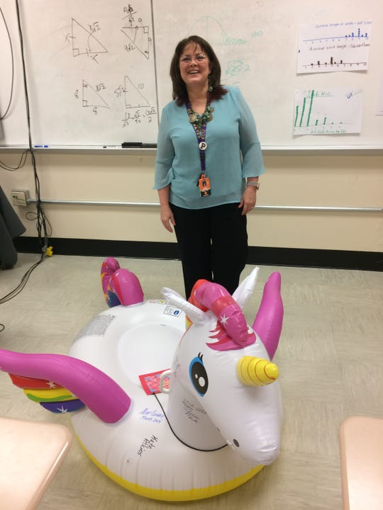 "Alice Carson has some fun with the monthly staff ""award"" that she recently won."