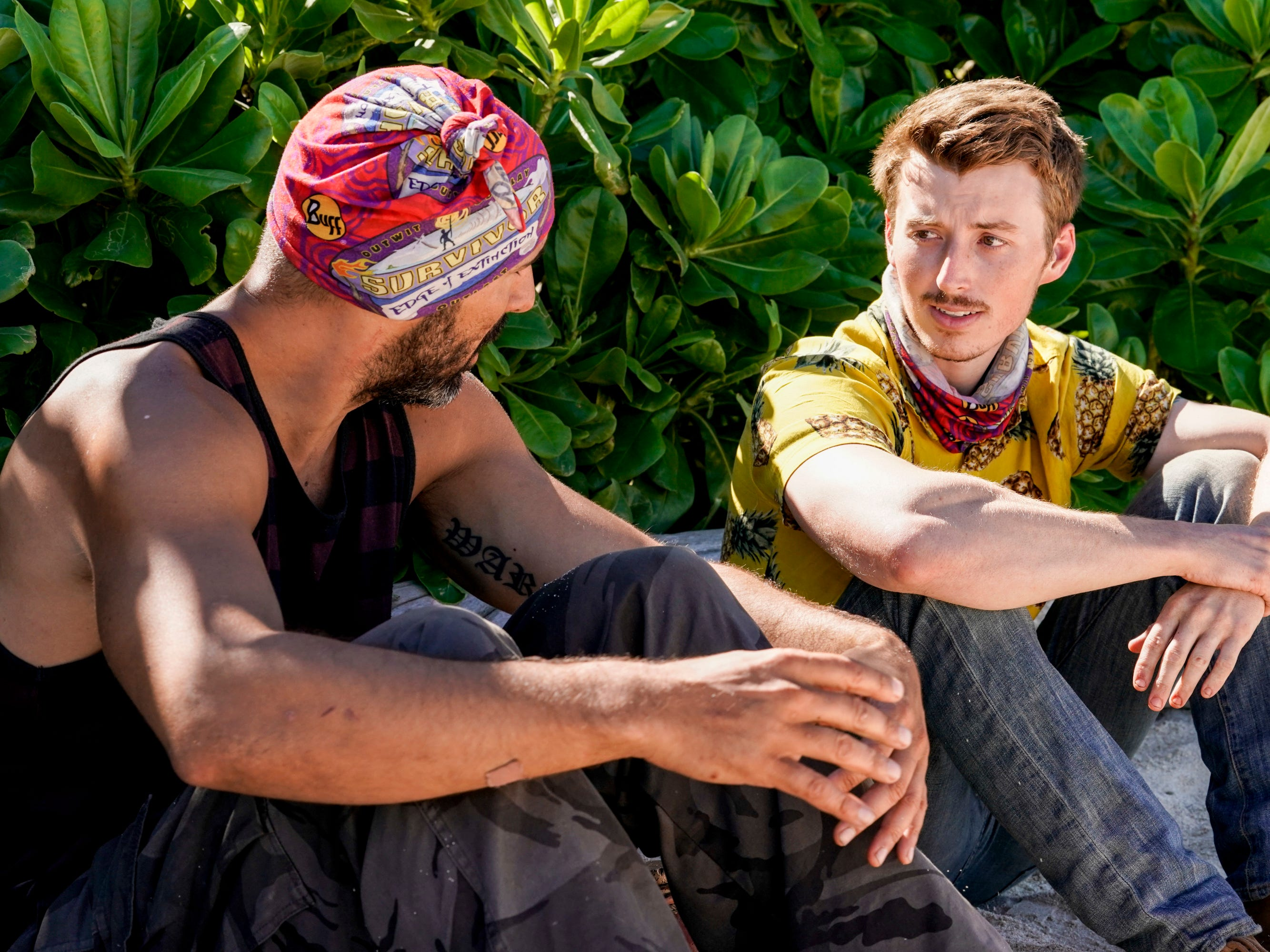 "Dan ""Wardog"" Dasilva and Gavin Whitson on ""Survivor: Edge of Extinction."""