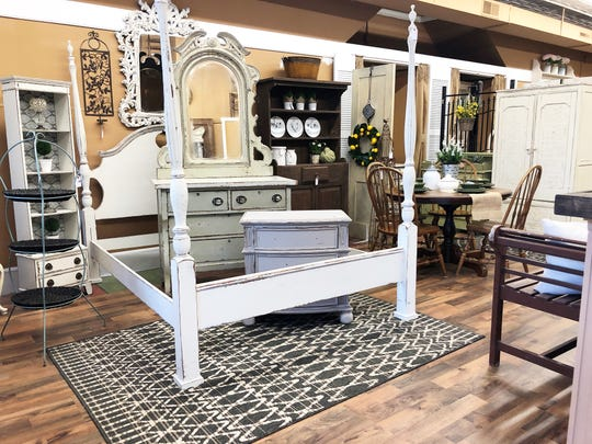 """It's nice having your own shop, it's your own ideas and styling,"" said Ginger Lay, owner of House of Painted Furniture, March 28, 2019."