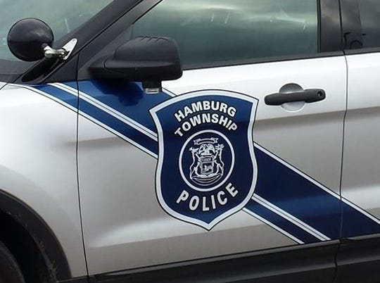 Police rescued a woman from Whitewood Lake in Hamburg Township Thursday, March 28, 2019.