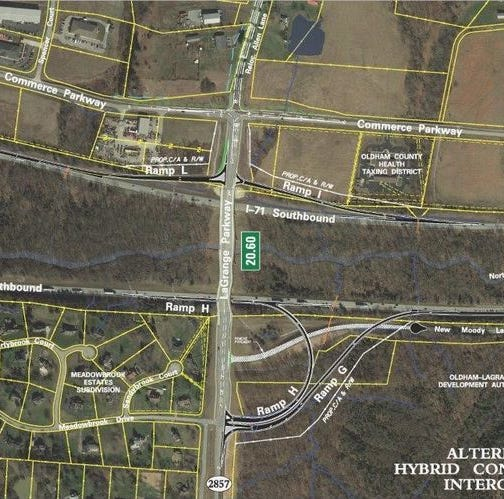 New I-71 exit in Oldham County will feature 'hybrid' design to fight La Grange traffic