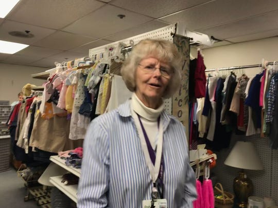 Thrifty Sparrow Resale Volunteer Polly Johnson said longtime customers have been dropping by to hug volunteers. The shop is closing after 40 years