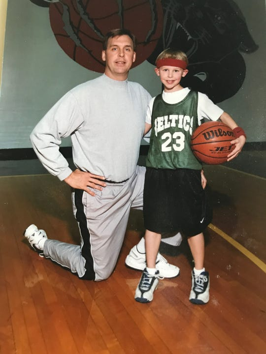 Matt McQuaid's father, Rob, served as his coach throughout his basketball career. (Photo provided by the McQuaid family).