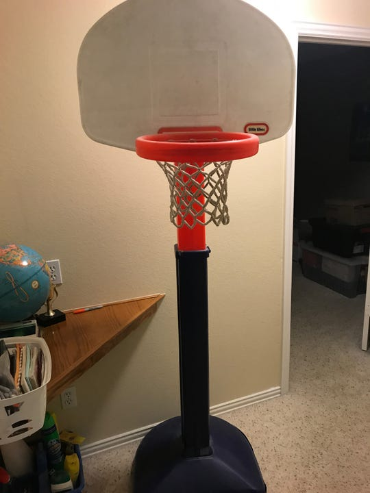 Matt McQuaid spent hours honing his shot on his Little Tikes basketball hoop. (Photo provided by the McQuaid family).