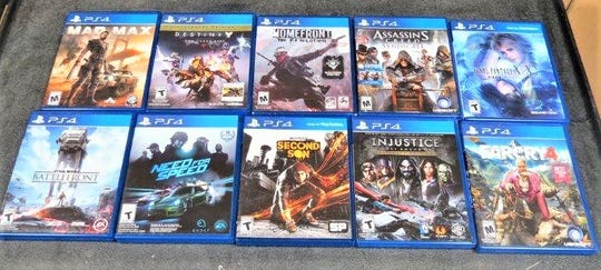 These PlayStation 4 games are among the items that will be auctioned during the Manitowoc Public Auction April 27.