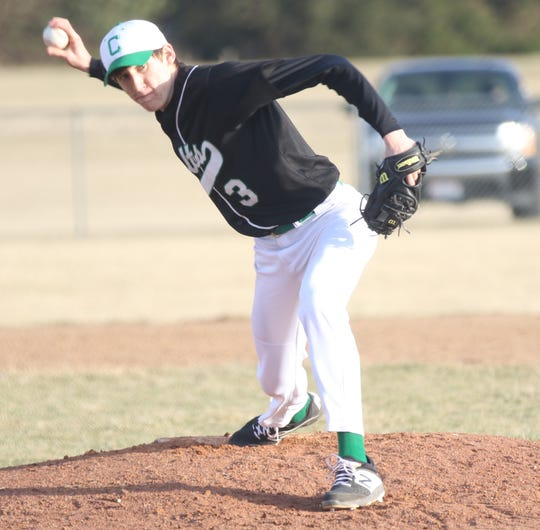 Clear Fork's AJ Blubaugh delivers a pitch in the fifth inning of the Colts' win over Shelby on Wednesday.