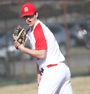 Shelby's Blaise Caudill won a Richland County-high eight games making him the 2019 Mansfield News Journal Pitcher of the Year.