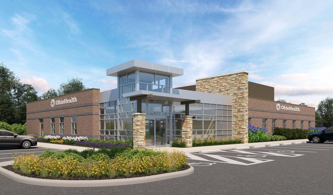 A rendering of the $5 million OhioHealth medical office building with an outpatient lab scheduled to open in Lexington late this fall.