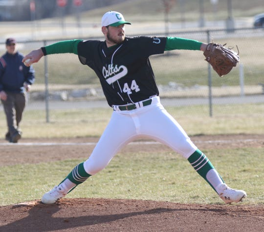 Clear Fork's Mitch Dulin led the Colts to a 14-2 win over River Valley on Tuesday evening.