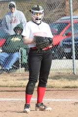 Shelby's Emma Taylor watches a pitch during a game earlier this season.
