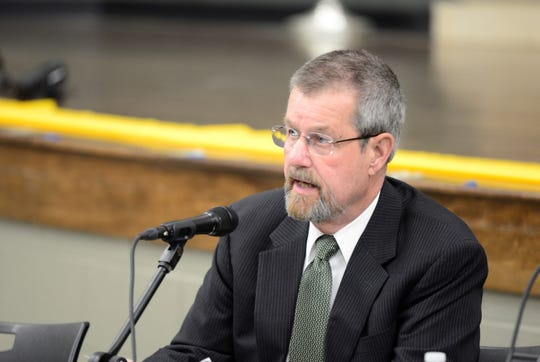 Acting Superintendent Lee Kaple at a Madison school board meeting on March 27, 2019.
