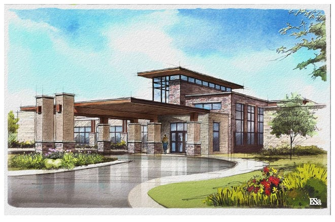 A rendering shows a freestanding emergency department to be developed by Baptist Memorial Hospital with Regional One Health in Arlington.