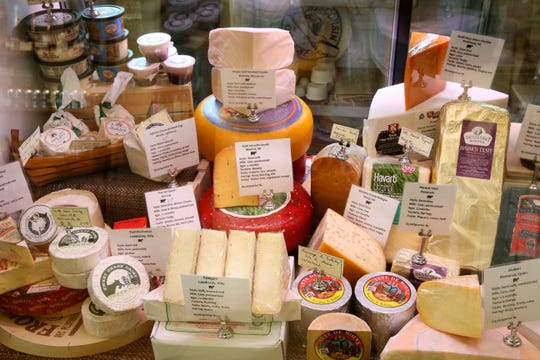 The cheese case at the Village Cheese Shop, 1430 Underwood Ave. in Wauwatosa, changes with the seasons. An upcoming class talks about spring cheeses and pairs them with newer wines from store shelves.