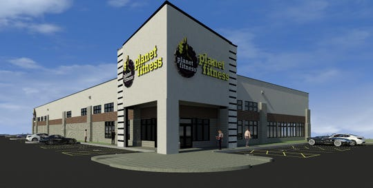 This early rendering shows the exterior of a Planet Fitness gym planned for Waukesha. The fitness center would be located within the Woodman's Food Market development, specifically along Main Street near Manhattan Drive.