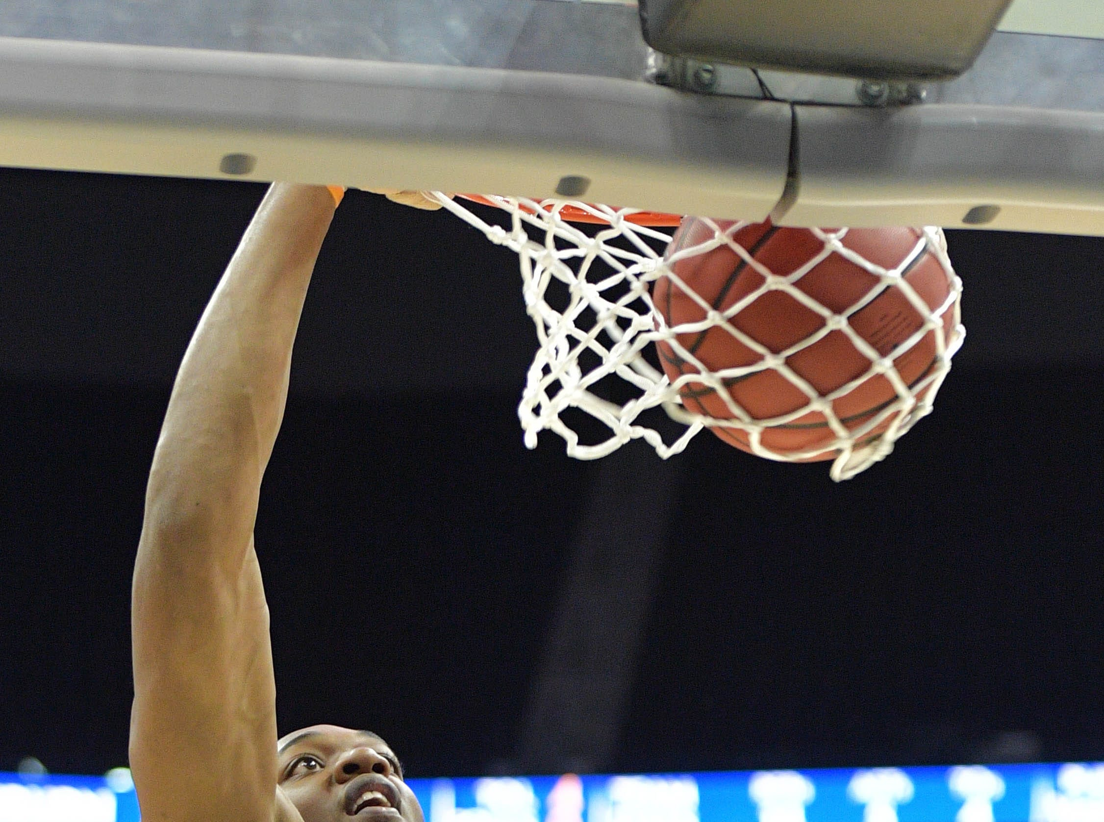 Mar 28, 2019; Kansas City, MO, United States; Auburn Tigers center Austin Wiley (50) during practice for the midwest regional of the 2019 NCAA Tournament at Sprint Center. Mandatory Credit: Denny Medley-USA TODAY Sports