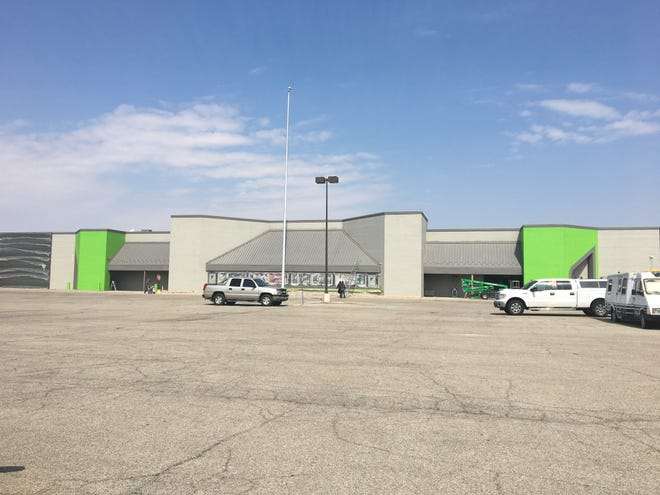 The former Marsh store along Bethel Avenue was being repainted green and gray as of Thursday, March 28.