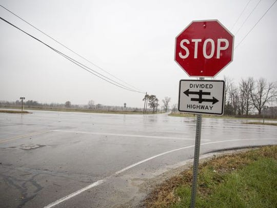 The intersection at Delaware County Road 600-W and Ind. 332 requires drivers turning left from the northbound lane to expose themselves to two potential broadside crashes. A new plan by the Indian Department of Transportation may change that with a J-Turn which uses other means of merging traffic.