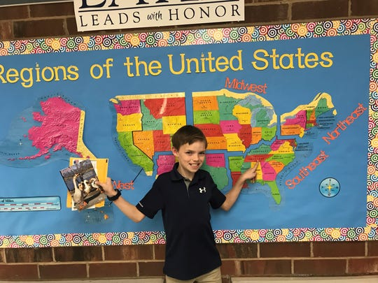 Mo Fitzgerald is a fourth-grader at Charlotte Latin School in Charlotte, N.C., and he is seeking help from Tennesseans to learn more about the state for his class project.