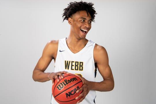 Keon Johnson of The Webb School basketball team Wednesday, March 20, 2019.