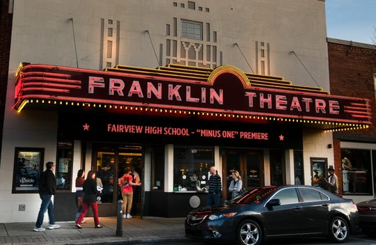 The Franklin Theatre hosted the premiere of Minus One a feature film written, produced and performed by Fairview high school students Wednesday, March 27, 2019 in Franklin, Tenn.