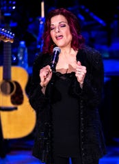 Rosanne Cash performs during the Country Music: A Concert Celebrating the film by Ken Burns concert at the Ryman Auditorium in Nashville, Tenn., Wednesday, March 27, 2019.