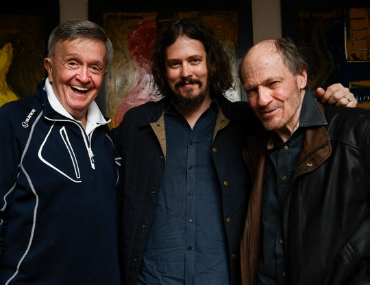 "John Paul White, center, asked his country music heroes Bill Anderson, left, and Bobby Braddock to co-write songs for his new album, ""The Hurting Kind."""