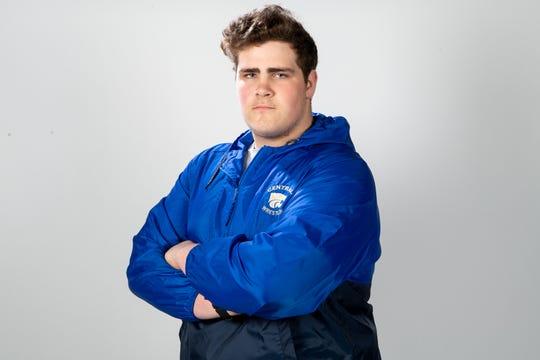 Michael Kramer of the Wilson Central High School wrestling  team Wednesday, March 20, 2019.