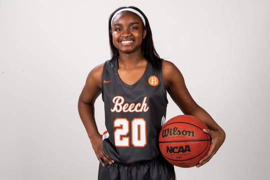 Deshiya Hoosier of the Beech High School basketball team Wednesday, March 20, 2019.