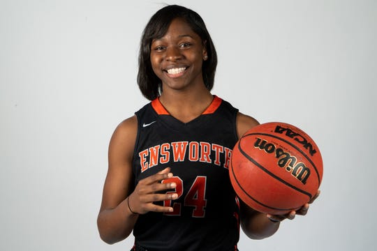 Dontavia Waggoner of the Ensworth High School basketball team Wednesday, March 27, 2019.