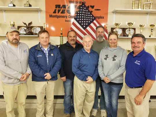 Pictured, from left, Jeff Allen; WADC Executive Director Mike Adams; WADC Operations Manager Scott Miller; Warner Taylor, Steve Christenson, Toni Huff and WADC Water Treatment Manager Jimmy Murphy.