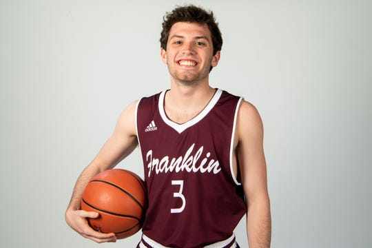 Reese Glover of the Franklin High School basketball  team Wednesday, March 27, 2019.