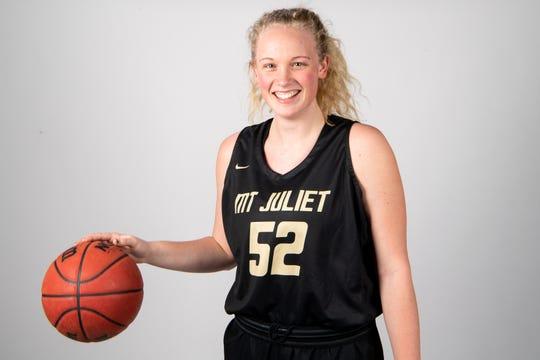 Emma Palmer of the Mount Juliet High School basketball team Wednesday, March 20, 2019.