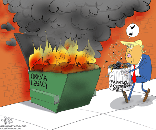 obamacare in dumpster fire