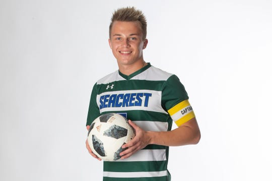 Seacrest Country Day School senior soccer player Lukas Pusinskas