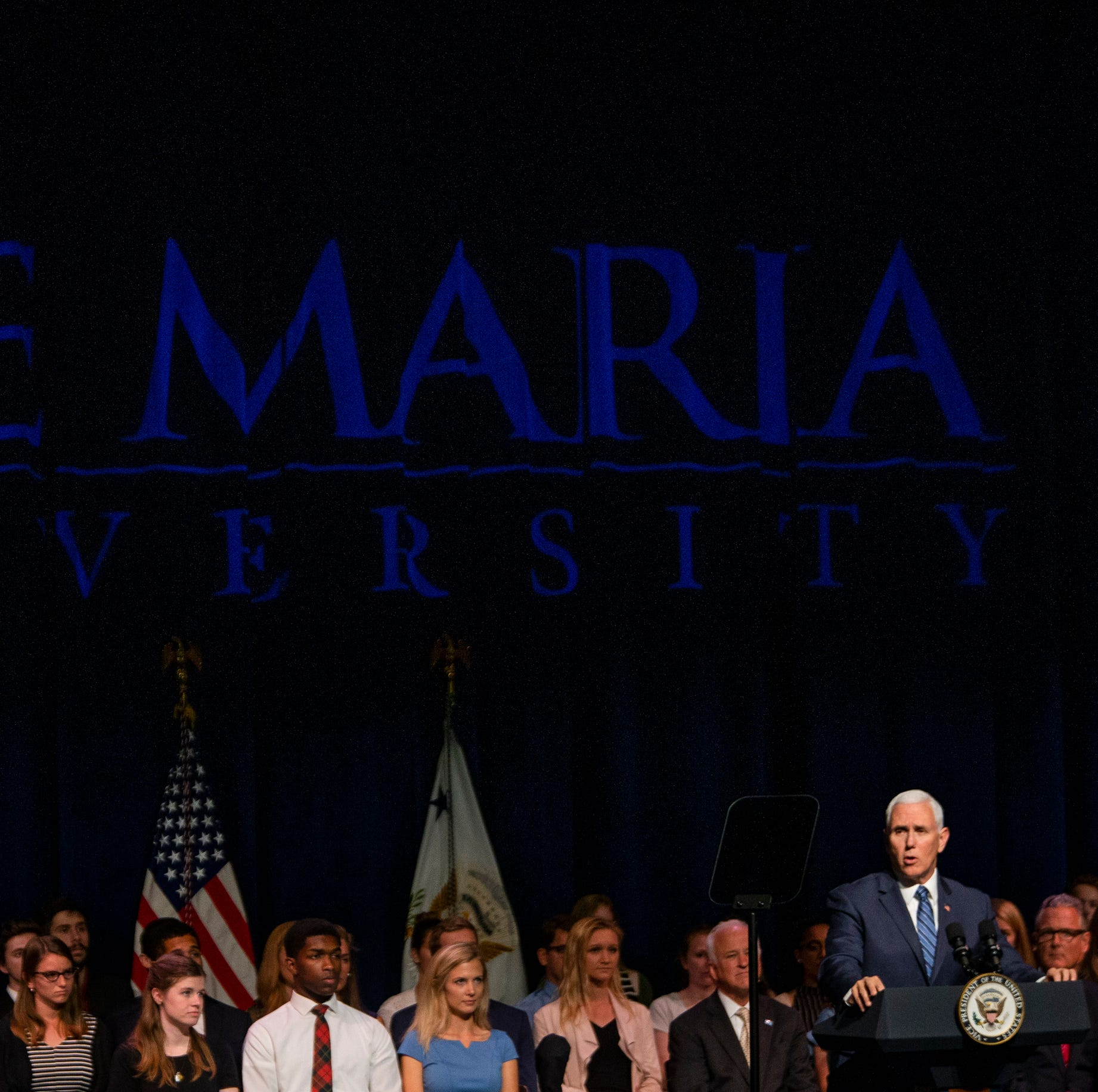 Sights and sounds: Vice President Mike Pence visits Ave Maria University