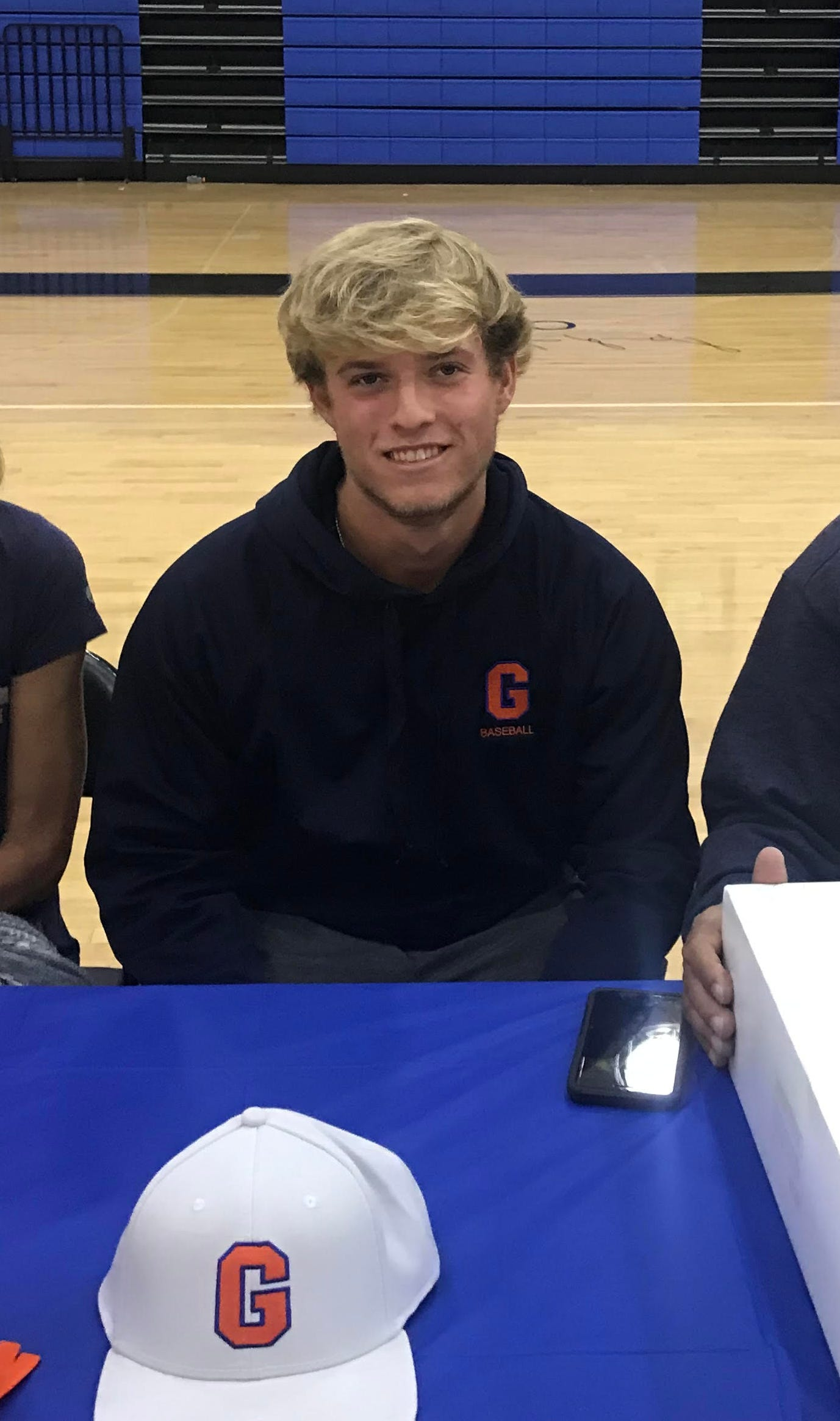 CSN's Connor Strohl poses for a picture prior to signing with Gettysburg College on Tuesday.