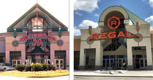 While Hollywood 20's new facade in North Naples is still not complete, the changes are remarkable.