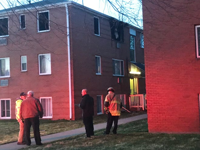 A man suffered injuries resulting from a possible explosion in his third-floor apartment at Plaza Garden Apartments on Wednesday night.