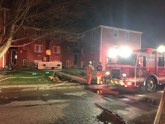 Newark Fire Department was on scene of a residential fire on Grafton Avenue Wednesday evening.