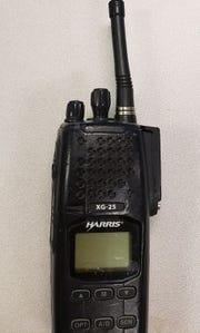 Clifton police handheld radio.