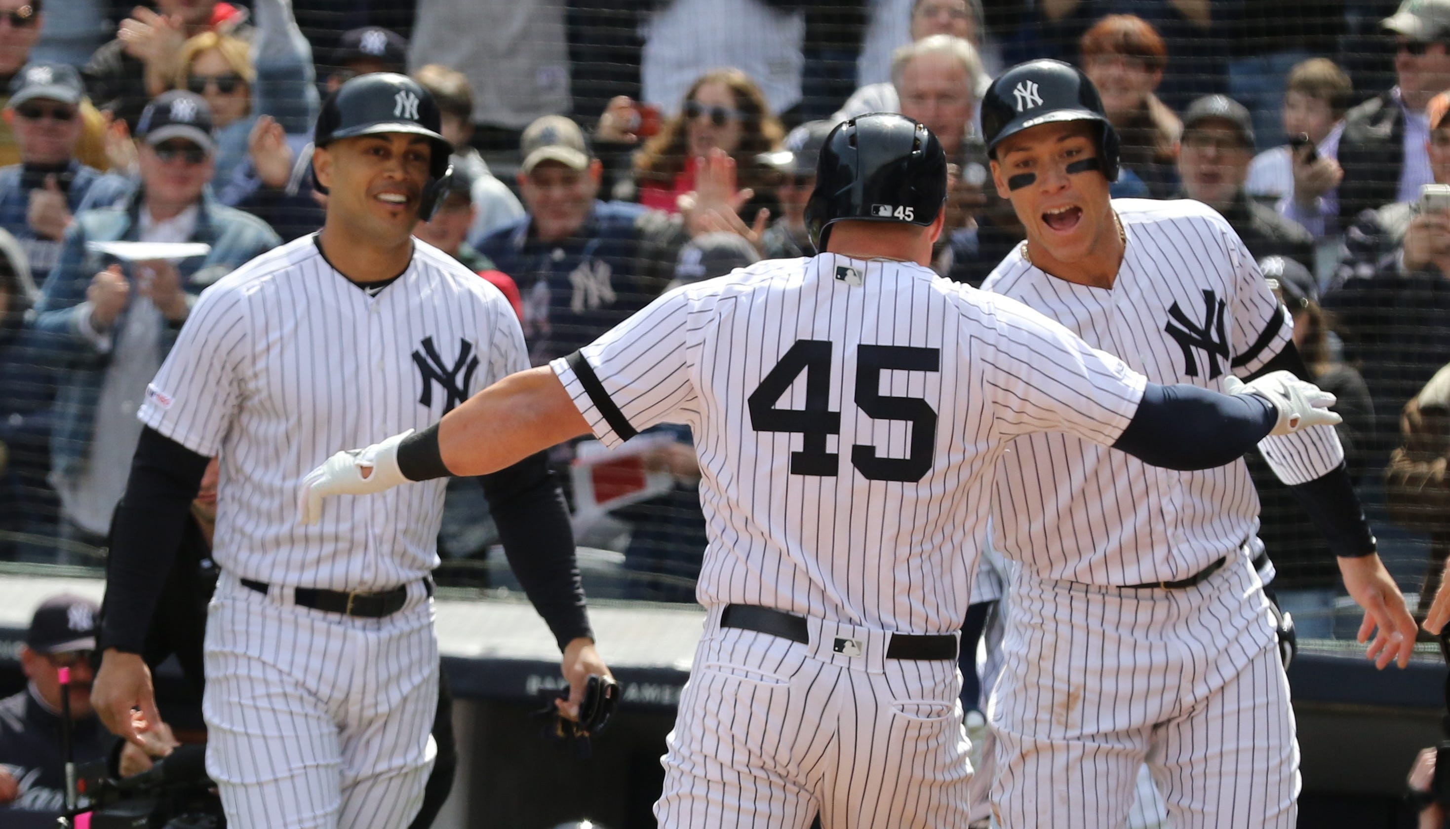best website d7668 7c286 New York Yankees Baltimore Orioles opening day Luke Voit