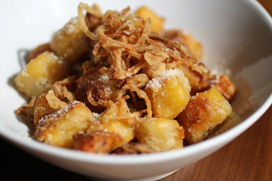 Sweet potato and gnocchi are displayed at Vanillamore, in Montclair. Thursday, March 28, 2019
